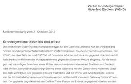 Medienmitteilung 03.10.2013