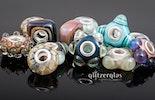 ob rund, eckig, Blume oder stern - ich hab sie alle gern ;-) Trollbead-style Glasperlen in verschiedenen formen