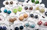 immer wieder neu Farben und Muster - kleine süsse unikat Glasperlen-Ohstecker mit echt Silber 925
