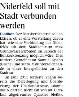 Limmattaler Zeitung 03.01.14