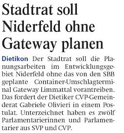 Limmattaler Zeitung 14.01.14
