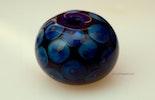 """Blues"" Double-Helix Glasperle (verkauft an Iris/Deutschland)"