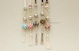 Glasperlen-Kettenanhänger in diversen Farben mit Silber925