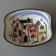Dish by the Lanz pottery, 15x12cm 1950's