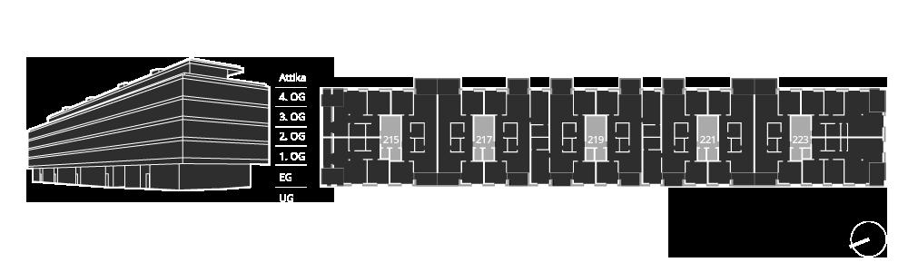 Hauseingang 215