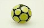 """""""Piselli"""" grünes Klarglas mit hellgrünen Dots Glasperle"""