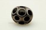"""Blackpoint"" Murano- mit Reichenbachglas Perle (CHF 18.-)"