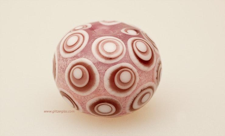 """""Bubble-Pink"" Glasperle aus Muranoglas"