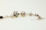 """""""Cinderella 2"""" Bestellung Kettenanhänger mit Muranoglas- &Silberperlen mit Silber925 Quaste an geflochtenem Ziegenlederband (verkauft an Coni aus Kriens)"""