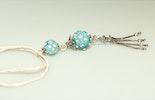 """""""Athen2"""" Kettenanhänger an Wildseidenband mit Muranoglasperlen,echt Silberteilen und Quaste(gehört jetzt Jeannette/Rüti-ZH)"""