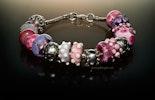 Pandora- und Trollbead- Style-Perlen: verschiedene Varianten in Pink.