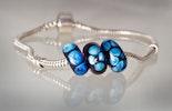 Pandora-Style Kobaltblau mit Spezialglas Double-Helix (verkauft in Oetwil a.d.L.)