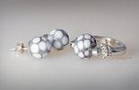 Ohrringe Stecker echt Silber /Fingerring passend dazu (Modeschmuck) vergeben