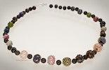 """""""Romantico"""" Halskette mit Glasperlen mit Minidot's kombiniert mit Lavaperlen (reserviert für Gaby/ZH)"""