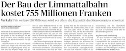 LImmattaler Zeitung, 20.08.14