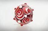 """""""Big Kiss"""" Grosse Perle aus Muranoglas geeignet als Einzelperle an Schmuckdraht oder an Kettenanhänger. (verkauft in Bremgarten am Altstadtmarkt)"""