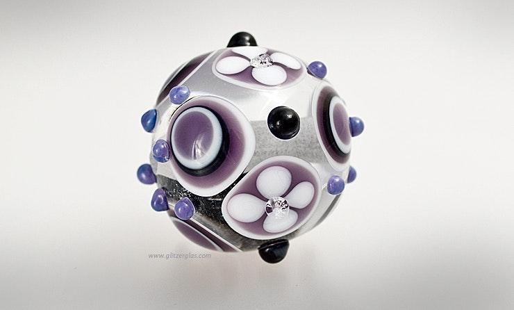 """""""Magic Air"""" Grosse Perle aus Muranoglas geeignet als Einzelperle an Schmuckdraht oder an Schmuckanhänger."""