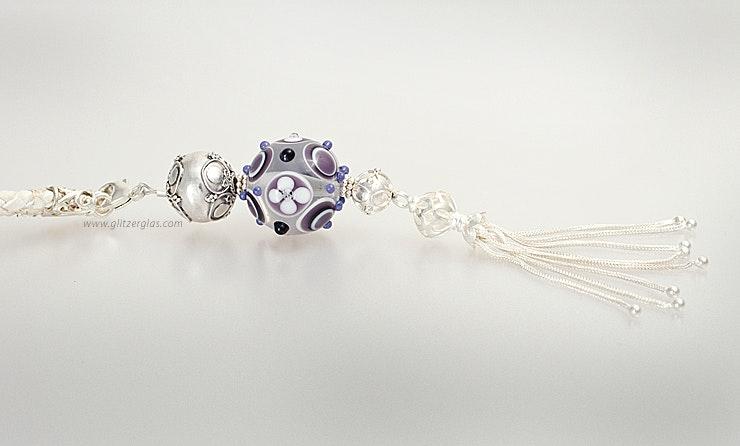 """""""Purple-Love"""" Kettenanhänger mit Muranoglasperle kombiniert mit Silber925 (special for Karo/Birsfelden/BL)"""
