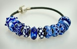 "Module pearls ""blue, blue, blue my favorite colors are"" for your Pandora- and Trollbead-Bracelet CHF 18.-/Pcs."