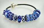 """""""blau,blau,blau sind alle meine Farben"""" Modulperlen für ihr Pandora- oder Trollbeadarmband"""