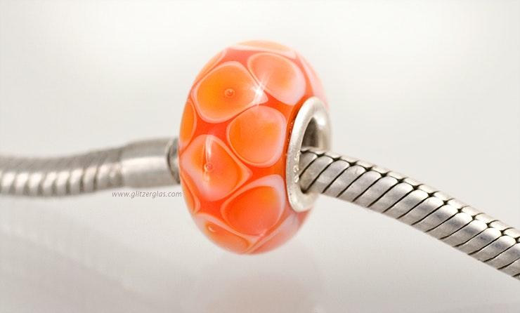 "Modell: ""Orange Juice"". Pandora- und Trollbead-Style Perle."