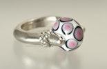 """""""littlebit Pink"""" Fingerring mit Glasperle (Bestellung Karo/Birsfelden)"""