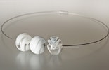 """""""Light and soft"""" chockers with 3 big glass beads. Order from Tobias. Bottmingen Basel-Land"""