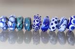 Pandora-Trollbeadstyle in blau Muranoglas(teilweise noch nicht mit Silberhülse)