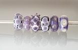 """Glasperlen in """"Violett"""" aus Muranoglas mit Silber925 Hülse für alle Modularmbänder"""