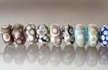 Glasperlen für Pandora-Schmuck mit 925 Silberhülse