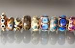 """""""Special-glass"""" Glasperlen für Trollbead-/Pandora-Armbänder mit echt SilberHülse ab"""