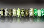 """Green"" Murano glass beads with Silber925 sleeve for removable straps, such as Pandora and Trollbead CHF18.-/pc."