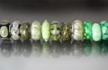 """""""Green""""Muranoglasperlen mit Silber925 Hülse für Wechselarmbänder wie z.B. Pandora oder Trollbead"""
