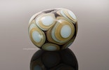 """Mille Punti"" large Murano glass bead beige / light blue 25 mm diameter CHF 35.-"