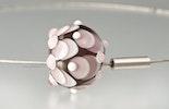 """""""Veilchen"""" Muranoglasperlen rosa/weiss"""
