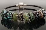 Neuste Pandora-/Trollbeads-Style Perlen mit echt Silber Hülse aus Murano-& Silber Spezialglas