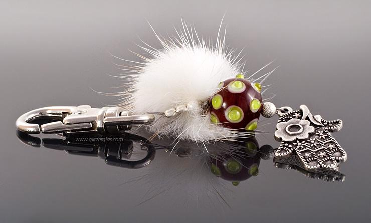 glitzerglas glasperlen glass beads for your bag and key. Black Bedroom Furniture Sets. Home Design Ideas