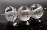 """""""White-Whisper"""" weisser Halsreif mit 3 Muranoglasperlen Klarglas/weiss (verkauft /untersiggenthal AG)"""