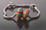 """Sunny-Beads"" Pandora- oder Trollbeadstyle Glasperlen mit 925Silberhülse (bestellt Karin/ZH)"