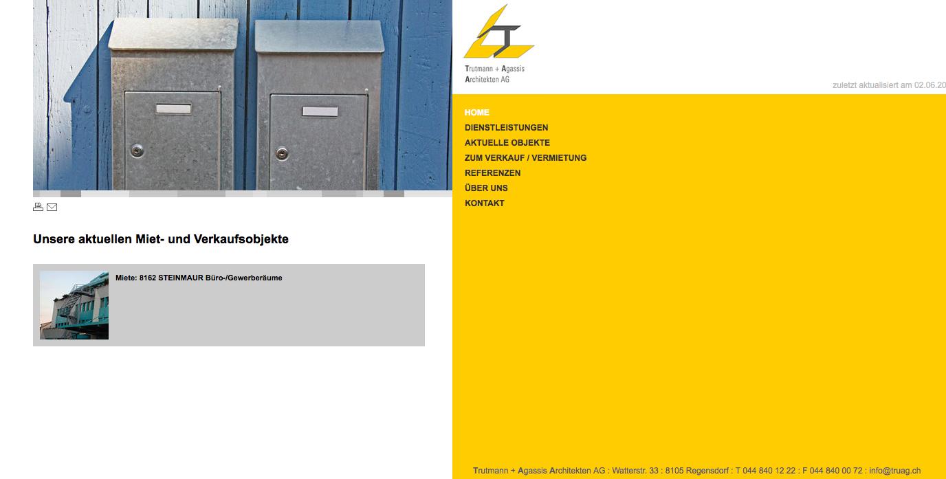 Firmen-Internetseite