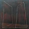 """"""" Echonaut """"      XVIII, oel  und  kreide  auf Baumwolle, 100 cm  x 100 cm"""