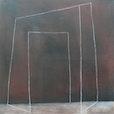 """"""" Echonaut  """"     XVII, oel  und  kreide   auf  baumwolle, 100 cm  x 100 cm"""