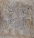 """"""" Starface """"     100cm x 90 cm   pigmente , papiereinschlüsse ,  kreide  auf  baumwolle"""