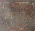 """""""  Bodenstation  """"     90 cm x 100 cm  pigmente ,  papiereinschlüsse , kreide  auf  baumwolle"""