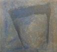 """"""" Coyote """"    90 cm x 100 cm  pigmente , papiereinschlüsse , auf baumwolle"""