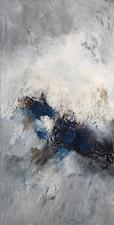 Fluela, 145 cm x 73 cm  öl , asche , pigmente  auf baumwolle