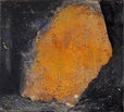 O.T. , 45 x 50 cm      eisenchloryd , pigmente auf baumwolle