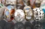 Neue Modulperlen aus SPEZIAL Silbergläsern mit schönen Perlmutteffekten