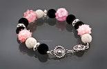 """""""Sweet-Kiss"""" Glasperlenarmband in rosa, mit Lavaperlen & echt Silber925 ca.19cm lang (verkauft an Andrea/ Muri AG)"""
