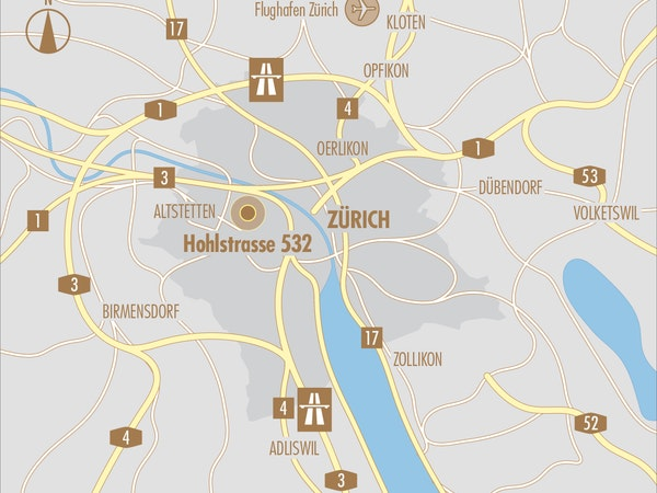 Makrokarte Hohlstrasse 532